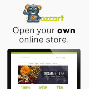 Ozcart banner - Open your own store
